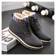 Hombre Botas zapatos para invierno Fashion-cool-Negro
