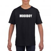 Bellatio Decorations Mooiboy tekst t-shirt zwart kinderen