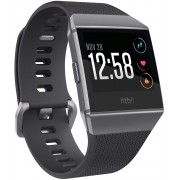 Ceas smartwatch Fitbit Ionic, HR, GPS, Smoke Gray, Curea Charcoal
