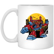 Boombox Robot - 11 oz Ceramic Mug - 113