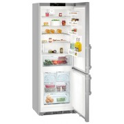 Combina frigorifica Liebherr CNef 5745, 397 L, No Frost, Display, Control electronic, Alarma usa, Raft sticle, SuperCool, HolidayMode, H 201 cm, A+++, Inox, finisaj Antiamprenta