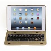 Javu - iPad Mini 4 Toetsenbord Hoes - Bluetooth Keyboard Cover Goud