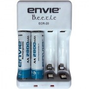 Envie Bettle ECR-20 Combo With 2xAA 2800 Ni-MH rechargeable Camera Battery Charger