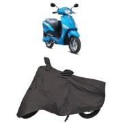 De AutoCare Premium Quality Grey Matty Two Wheeler Scooty Body Cover for Hero Electric Optima