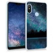 kwmobile Funda Compatible con Xiaomi Redmi 6 Pro/Mi A2 Lite Carcasa de TPU y Cielo Estrellado en Azul/Negro