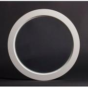 Dala Dörren Dekorfönster Rund utvändigt 290mm vit enkelglas (3x0)