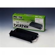 Brother PC-70 Farbband schwarz original - passend für Brother Fax T 76