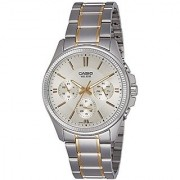 Casio Enticer Analog Silver Dial Mens Watch-Mtp-1375Sg-9Avdf