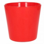 Geen Glazen bloempot rood 12 cm