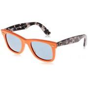 Ray-Ban Rb2140 anteojos de sol unisex para adulto, Naranja/Azul polarizado., 50 mm