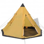 vidaXL 4-местна палатка, жълта
