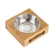 Dog Bowl Single Cat Pet Bowl Puppy Cat Feeders Drink Feeding BamboocCombo Bowl