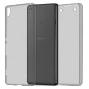 Husa Full TPU 360 (fata spate) pentru Sony Xperia X Gri transparent