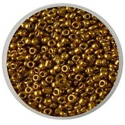 eshoppee 11/0 100 gm golden color glass seed beads pot art and craft diy kit for jewellery making (gold)