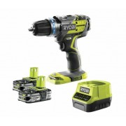 Ryobi TRAPANO/AVVITATORE BRUCHLESS A PERCUSSIONE 2 BATTERIE 2,5 Ah R18PDBL-LL25S