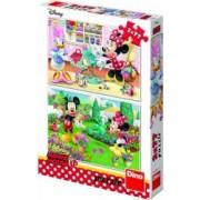 Puzzle 2 in 1 Dino Toys Minnie la treaba 77 piese Multicolor