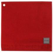 Essuie-mains Curl rouge carré 50 cm Winkler