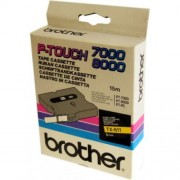 Banda continua laminata Brother TX611, 6mm, 15m
