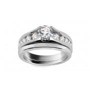 Luxusní zásnubní prsten s 1.00ct H / Si diamanty Mona Lisa KU0023