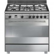 SMEG Bg91px9 Cucina 90x60 5 Fuochi A Gas Forno Termoventilato Pirolitico 115 Lit