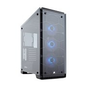 Corsair Crystal 570X Computer Case - Mini ITX, Micro ATX, ATX Motherboard Supported - Mid-tower - Steel - Black - 10.90 kg