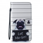 Apple iPhone XS Max (калъф кожен) 'Pug in prison'