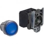 Buton cu revenire 1NO+1NC cu lampa albasra 24V