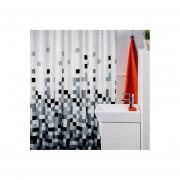 Cortina de baño Teflón Estampada Deluxe BLACK