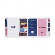 HP Limpiador de cabezales de impresión y cabezal de impresión colorante DesignJet 81 magenta claro C4955A