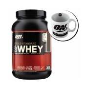 Kit Whey Protein 100% Gold Standard 909g Doce de Leite + Caneca - Optimum Nutrition