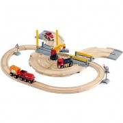 BRIO World - Rails en weg treinset
