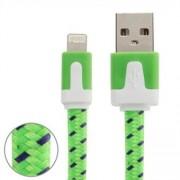 Textilkabel Lightning till iPhone 5 / 5S / 5C / SE / 6 / 6s / 6 Plus - Grön