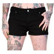 pantaloni scurți (pantaloni scurti) femei BANNED - Bomboane Craniu - QBN1802