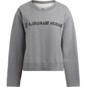MM6 Maison Margiela Felpa MM6 Maison Margiela grigio melange con logo frontale