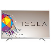 Tesla TV 49S356SF, 49 TV LED, slim DLED, DVB-T2/C/S2, Full HD, silver, metal