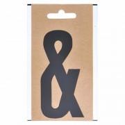 Geen Leesteken sticker &-teken zwart 10 cm