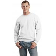 Gildan 12000 unisex kereknyakú pulóver - fehér