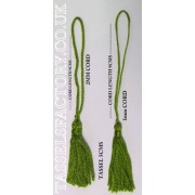 Chainette Tassels Bridal Decorations, Cards, Bookmarks, Sewing JADE Green - Pack of 10pcs