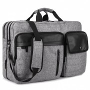 DTBG Nylon Versatile Spacious Business Casual Travel Laptop Messenger Bag Briefcase? Handbag - Grey