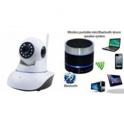 Zemini Wifi CCTV Camera and S10 Bluetooth Speaker for LENOVO a60(Wifi CCTV Camera with night vision |S10 Bluetooth Speaker)