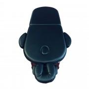Spapro ® LUX Oval 2 - professzionális masszázságy FEKETE (192x70cm)