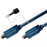 Clicktronic Cavo ottico digitale audio Toslink/Toslink 10 m