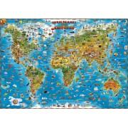 Kinderwereldkaart 93ML Wereldkaart voor kinderen, 136 x 96 cm | Dino's Maps