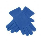 Merkloos Fleece handschoenen kobalt