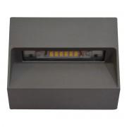 VIVIDA Segnapassi Led 3w 3000k 300 Lumen In Alluminio Grigio Quadro Dimensioni 10x10x3 Cm Ip54