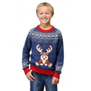 Fun Costumes Kids Light Up Reindeer Christmas Sweater Funny Ugly Christmas Sweaters for Boys X-Large