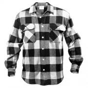 ROTHCO | Košile dřevorubecká FLANNEL kostkovaná BÍLÁ vel.XL
