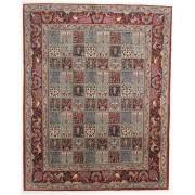 RugVista Persisk Matta 198X250 Handknuten Orientalisk Ull/Silke Ljusbrun/Mörkbrun