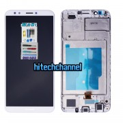 touch screen display lcd frame bianco huawei y7 2018 y7 pro 2018 ldn-l01 e honor 7c +colla b7000 kit 9 in 1 e biadesivo