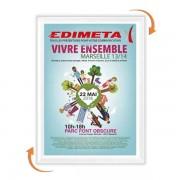 Edimeta Cadre Clic-Clac 60 x 80 cm BLANC